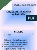 Física PPT - Forças em Trajetória Curvilínes