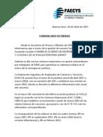 Acuerdo paritario 2021 para el sector de Empleados de Comercio