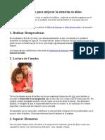 Ejercicios Para Mejorar La Atención en Niños