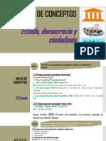 5. Notas de conceptos Estado, democracia y ciudadanía