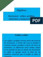 ppt. sijijos,  prefijos,adverbios  y preposiciones