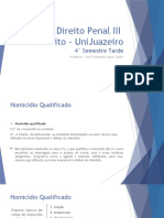 Direito Penal III  4 semestre Tarde - Aula 6 - Qualificadoras do Homicídio