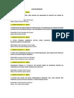 Lista de Projetos