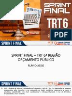 Orçamento Público - Sprint Final TRT-6