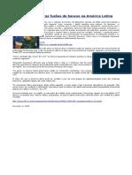 'FT' prevê outras fusões de bancos na América Latina