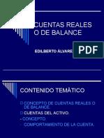 CUENTAS REALES O DE BALANCE