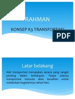 PPT KONSEP K3 TRANSFORTASI