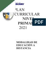 Plan Curricular Primaria 2021