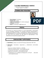 HOJA DE VIDA MARTHA ELENA DOMINGUEZ CHAVEZ