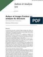 Dominique Maingueneau-Auteur et image d'auteur en analyse du discours