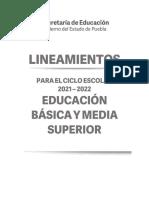 Lineamientos Para El Ciclo Escolar 2021 2022