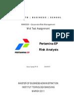 Risk Management at Pertamina EP