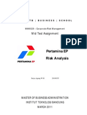 Risk Management at Pertamina EP | Risk Management | Business