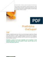 Prathibha is an improved turmeric variety
