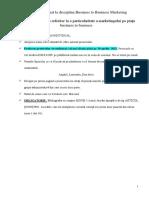 Proiect Individual (ESEU) La Disciplina Business to Business Marketing 2020-2021-1