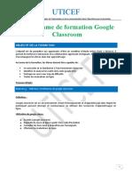 PROGRAMME DE FORMATION CLASSROOM
