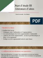La Littérature d'Idées