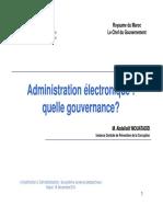 Administration Electronique Quelle Gouvernance Maroc