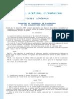 Arrêté du 11 Déc 2009 modif réglement de sécuritté  CO EL EC