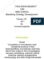 Marketing Strategy Development 20 Feb 2011