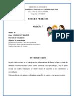 GUIA Nº 5 LENGUA CASTELLANA 3º PERIODO