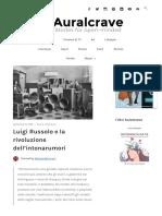 Luigi Russolo e la rivoluzione dell'intonarumori – Auralcrave