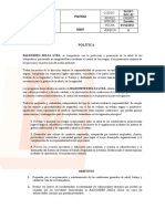 SGSST-DOC-02 POLITICAS Y OBJETIVOS 2019