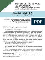 ¿CÓMO HA DE SER NUESTRO SERVICIO  A LA EUCARISTÍA? (9) San Pedro Julián Eymard