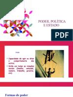 PODER, POLÍTICA E ESTADO