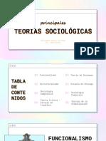 Presentación Principales Teorias Sociológicas PDF