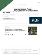 scribdSão Paulo se reapresenta com Pablo e Orejuela em campo; Eder e Gabriel Sara ficam no Reffis _ são paulo _ ge