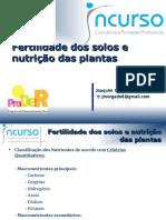 Fertilidade Dos Solos e Nutrição Das Plantas - J Morgado