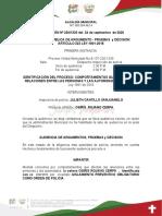 resoluciòn NO APLICA COMPARENDO24  incautacion de licor de septiembre