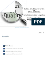 Calidad de Servicio en Banca Comercial ( PRAGMATICA MC)