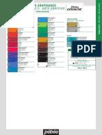 Pebeo Studio Gouache color chart