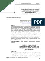 Energia Eólica e Solar_Fontes Alternativas de Geração Ou Indispensáveis Ao Desenvolvimento Sustentável