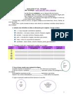 Ficha de trabalho - morfologia - nomes, adjectivos, verbos e conjunções