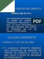 SÚMULAS CARTÃO CRÉDITO