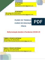 Plano de Trabalho Estágio Curricular II Avaliação, Prescrição e Atenção à Saúde Whasapp (91) 98764-0830