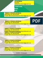 Pedagogia 4º e 5º Semana Cultural Virtual WhatsApp (91) 98764-0830