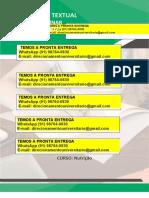 """Nutrição 3º e 2º """"Alterações Sistêmicas e Nutricionais Relacionadas à Doença de Chagas"""" WhatsApp (91) 98764-0830"""