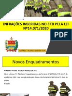 NOVAS INFRAÇÕES LEI 14.071 - PMSC