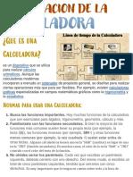 INVESTIGACION DE LA CALCULADORA