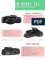 Infografía Canon Eos Rebel T6