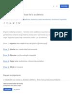 Guía programática Parte 1_ Organizar las estadísticas de la audiencia