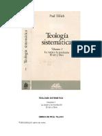 Tillich, P., Teología Sistemática I