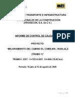 INFORME No. 4 CONTROL DE CALIDAD EL COMEJEN - WASLALA TRAMO I (Corregido 2)