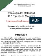 03 - TM1 - Propriedades Mecânicas Dos Metais - 2020-2