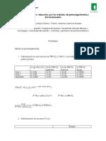 volumetria de oxido- reducion