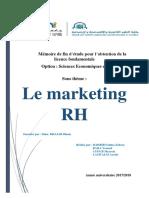 Mémoire de Fin d'Étude - Le Marketing RH